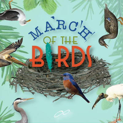 March of the Birds logo square